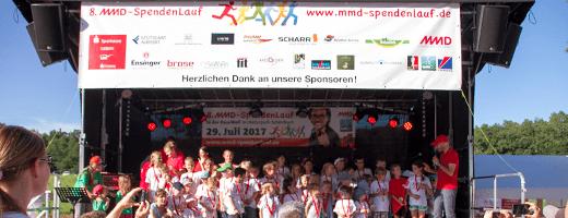 MMD-Spendenlauf Bühne