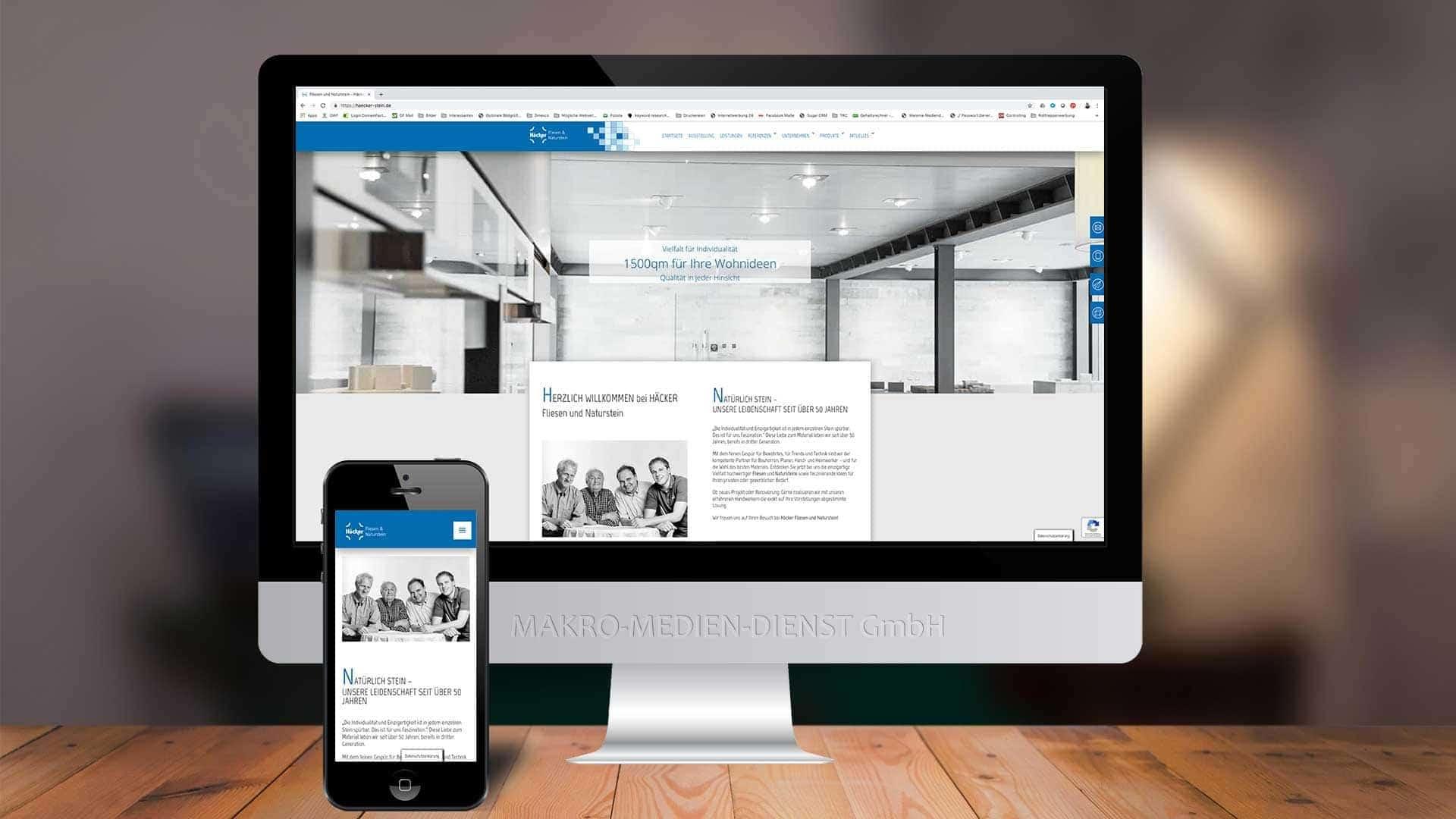 Häcker Fliesen Webseite