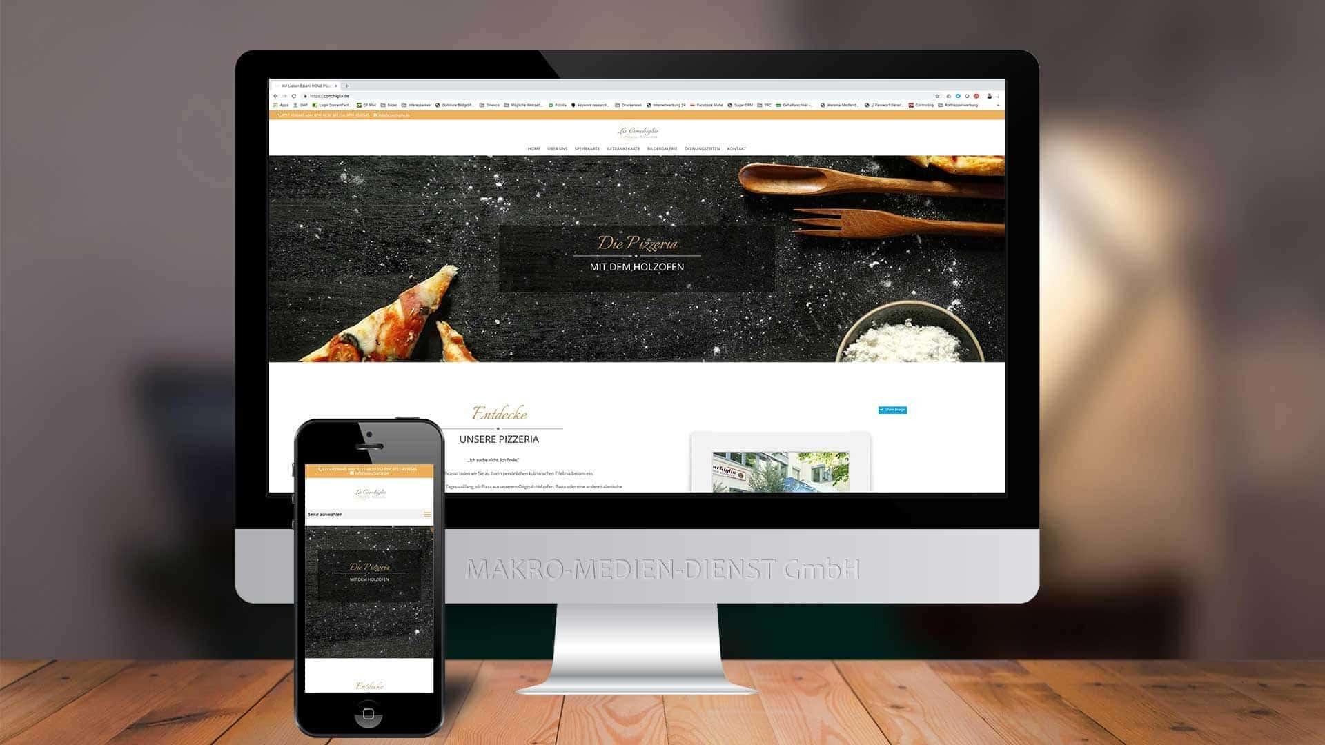 La Conchiglia Webseite