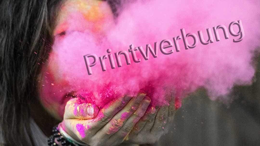Klassische Printwerbung